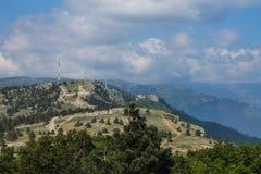 Άποψη από το υποστήριγμα AI-Petri, Κριμαία Όμορφη φύση της Κριμαίας στοκ εικόνα με δικαίωμα ελεύθερης χρήσης