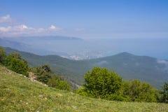 Άποψη από το υποστήριγμα AI-Petri, Κριμαία Όμορφη φύση της Κριμαίας στοκ εικόνες