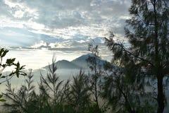 Άποψη από το υποστήριγμα Batur Στοκ εικόνες με δικαίωμα ελεύθερης χρήσης