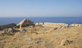 Άποψη από το φρούριο Fortezz στη θάλασσα. Rethymno Στοκ εικόνα με δικαίωμα ελεύθερης χρήσης