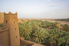 Άποψη από το χωριό Ksar Ait Ben Haddou Στοκ Εικόνες