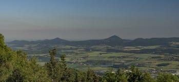 Άποψη από το λόφο hurka Komari Στοκ Εικόνα