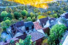 Άποψη από το λόφο Rocamadour σε Occitan στοκ εικόνα