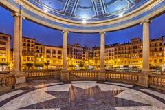 Άποψη από το bandstand Plaza del Castillo στο Παμπλόνα Στοκ Φωτογραφία