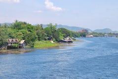 Άποψη από το bidge στον ποταμό Kwai Στοκ φωτογραφίες με δικαίωμα ελεύθερης χρήσης