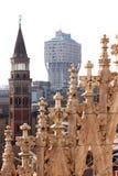 Άποψη από το Di Μιλάνο Duomo στην Ιταλία Στοκ Φωτογραφία