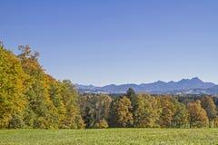 Άποψη από το Taubenberg κοντά σε Miesbach στοκ φωτογραφία