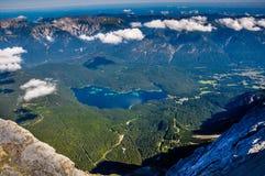 Άποψη από το Zugspitze Στοκ Εικόνες