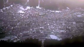 Άποψη από Aiguille du Midi σε Chamonix απόθεμα βίντεο