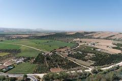 Άποψη από Arcos de το Λα Frontera, Ισπανία Στοκ Εικόνες