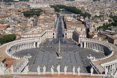 Άποψη από Basicila του ST Peter στοκ φωτογραφία με δικαίωμα ελεύθερης χρήσης