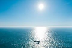 Άποψη από Cabo DA Roca, Ατλαντικός Ωκεανός, Πορτογαλία Στοκ εικόνα με δικαίωμα ελεύθερης χρήσης
