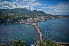 Άποψη από Castello Aragonese Στοκ Εικόνες