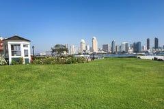 Άποψη από Coronado, Καλιφόρνια, του ορίζοντα του Σαν Ντιέγκο Στοκ φωτογραφία με δικαίωμα ελεύθερης χρήσης