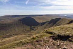 Άποψη από Cribyn, αναγνωριστικά σήματα Brecon στοκ φωτογραφία