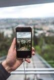 Άποψη από funicular σε μια άμεση ράγα, Tbilisi Στοκ Εικόνα