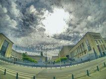 Άποψη από Kunstberg Βρυξέλλες Στοκ εικόνα με δικαίωμα ελεύθερης χρήσης