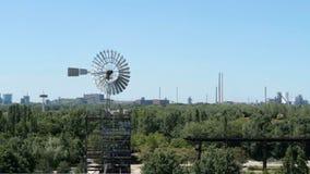 Άποψη από Landschaftspark Duisburg Nord απόθεμα βίντεο
