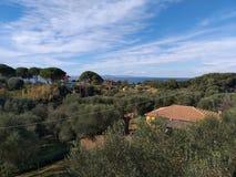 Άποψη από Leventochori στοκ εικόνες
