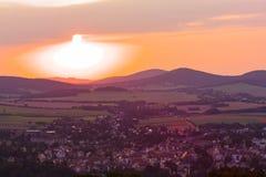 Άποψη από Loebauer Berg Στοκ εικόνες με δικαίωμα ελεύθερης χρήσης