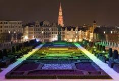 Άποψη από Mont des Arts στις Βρυξέλλες Στοκ Εικόνα