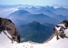 Άποψη από Monte Pelmo Στοκ εικόνες με δικαίωμα ελεύθερης χρήσης