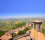Άποψη από Monte Titano, Άγιος Μαρίνος Στοκ φωτογραφία με δικαίωμα ελεύθερης χρήσης