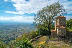 Άποψη από Nekresi, ιστορικό μοναστήρι σε Kakheti, Γεωργία στοκ εικόνα με δικαίωμα ελεύθερης χρήσης
