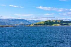 Άποψη από Oban, η σκωτσέζικη πόλη σε Argyll και Bute Στοκ Εικόνα