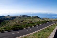 Άποψη από Pico do Arieiro πέρα από τα σύννεφα στη Μαδέρα Στοκ Εικόνες