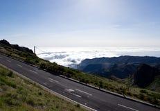 Άποψη από Pico do Arieiro πέρα από τα σύννεφα στη Μαδέρα Στοκ φωτογραφία με δικαίωμα ελεύθερης χρήσης