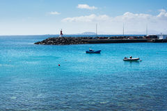 Άποψη από Playa Dorada στο BLANCA Playa, Lanzarote Στοκ φωτογραφία με δικαίωμα ελεύθερης χρήσης