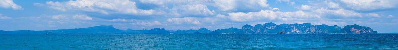 Άποψη από po-DA το νησί, επαρχία Krabi, Θάλασσα Ανταμάν, νότος του θορίου Στοκ Φωτογραφία