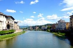 Άποψη από Ponte Vecchio Στοκ Εικόνες
