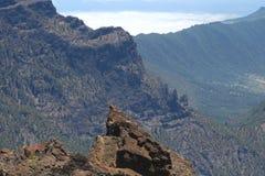 Άποψη από Roque de Los Muchachos, Λα Palma, Ισπανία Στοκ Εικόνα