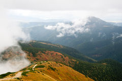 Άποψη από Volovec στα βουνά Tatra Στοκ φωτογραφία με δικαίωμα ελεύθερης χρήσης