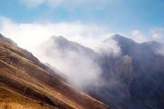 Άποψη από Volovec στις αιχμές βουνών Tatra Στοκ Εικόνες