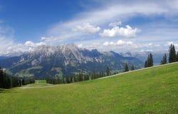 Άποψη από Wildkogel, Αυστρία Στοκ φωτογραφία με δικαίωμα ελεύθερης χρήσης