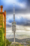 άποψη Βαρκελώνη από την τηλεοπτική κεραία λόφων Tibidabo, Στοκ Εικόνα