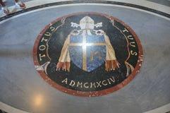 Άποψη Βατικάνου - εσωτερικό βασιλικών του ST Peter Στοκ φωτογραφία με δικαίωμα ελεύθερης χρήσης