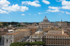 Άποψη Βατικάνου στην καταπληκτική Ρώμη, Ιταλία Στοκ Φωτογραφία