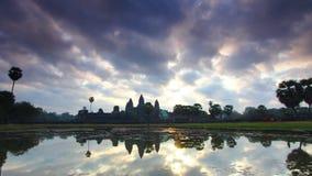 Άποψη βουδιστικού του σύνθετου Angkor Wat στην Καμπότζη Andreev απόθεμα βίντεο