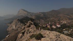 Άποψη βουνών άνωθεν φιλμ μικρού μήκους