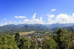 Άποψη βουνών στο γιο της Mae Hong, Ταϊλάνδη στοκ φωτογραφία