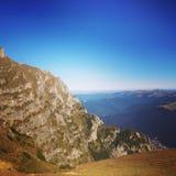 Άποψη βουνών Bucegi στοκ φωτογραφίες