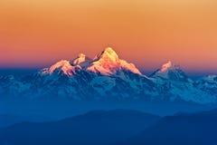 Άποψη βουνών Himalayan από το όρος Shivapuri Στοκ Εικόνες