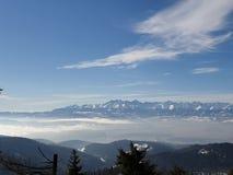 Άποψη βουνών Tatry από Turbacz στοκ εικόνα με δικαίωμα ελεύθερης χρήσης