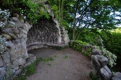 Άποψη βράχου με ένα gazebo πετρών Στοκ Εικόνα