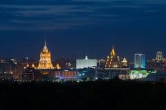 Άποψη βραδιού της στο κέντρο της πόλης Μόσχας Στοκ φωτογραφίες με δικαίωμα ελεύθερης χρήσης