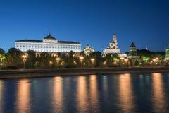Άποψη βραδιού της Μόσχας Κρεμλίνο Στοκ Φωτογραφίες